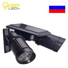 Solar Garden Light 14 LED Spotlights PIR Motion Sensor led Wall Lights For Outdoor lighting 180 Degree Adjustment