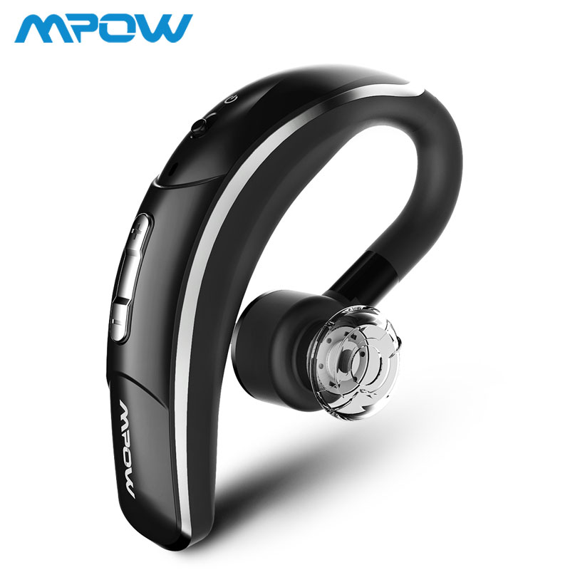 Mpow 028 Wireless Earbud Bluetooth 4.1 Headset Single Headphone 6H Talking Time With Microphone Hands-Free Call For Car Driver 1 2 pack mpow pro professional wireless bluetooth headphone with microphone 13h talking time for driver call center skype office