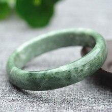 Прямая Высокое качество дешевле натуральный зеленый Guizhou браслеты из нефрита круглые браслеты подарок для женщин ювелирные изделия нефрита
