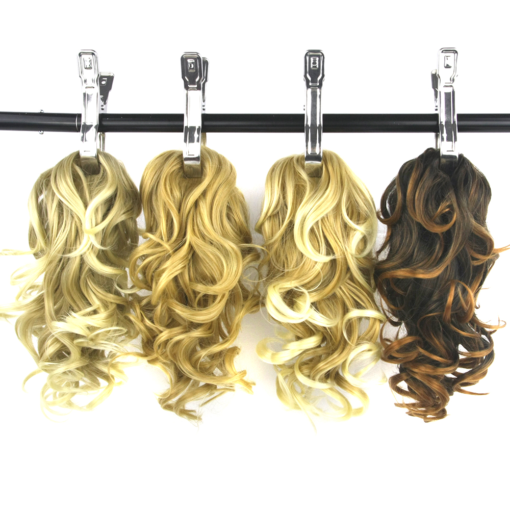 Soowee Short Curly Synthetic Hair Little Pony Tail Gray Claw Ponytail Ombre False Hair Extensions Hairpins For Women Pleasant To The Palate Hair Extensions & Wigs Synthetic Ponytails