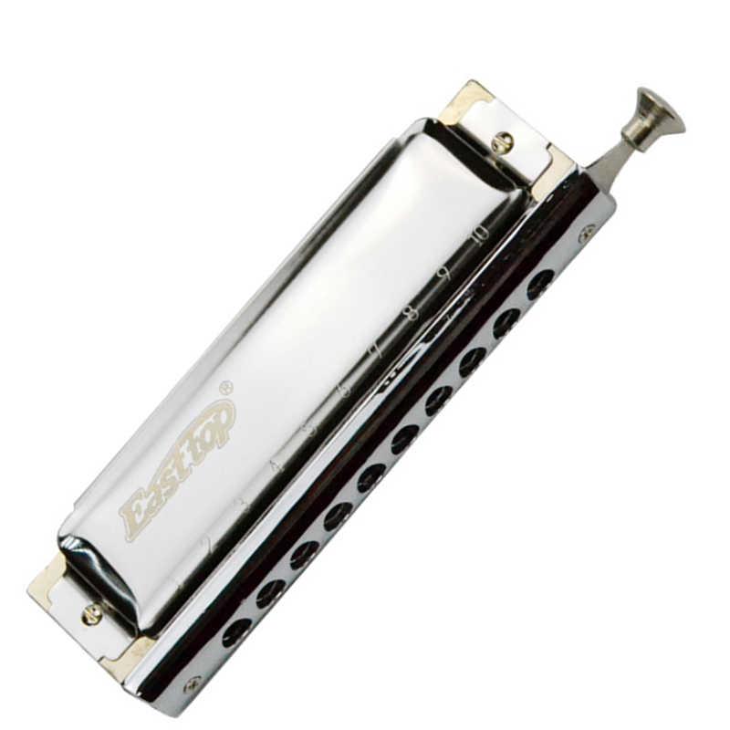 Easttop Хроматическая Гармоника 10 отверстий 40 тон ABS гребень Armonica Cromatica гармоника музыкальный инструмент gaita de boca Professional