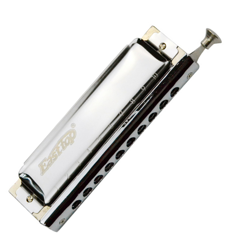 Harmonica cromática de 10 orificios 40 tonos ABS peine armónica Cromatica boca Ogan instrumento Musical gaita de boca profesional