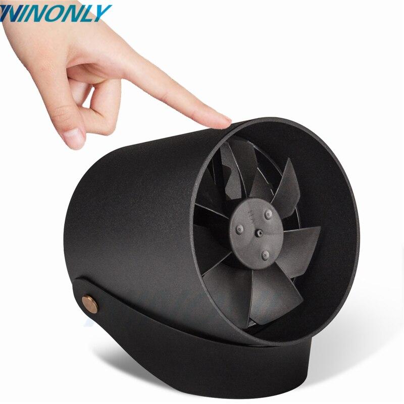 Mini USB Table Fan VH Office Touch Control Metal Frame Dual Motor Driver Fan VH Portable Creative Ultra Mini Quiet USB Desk Fan