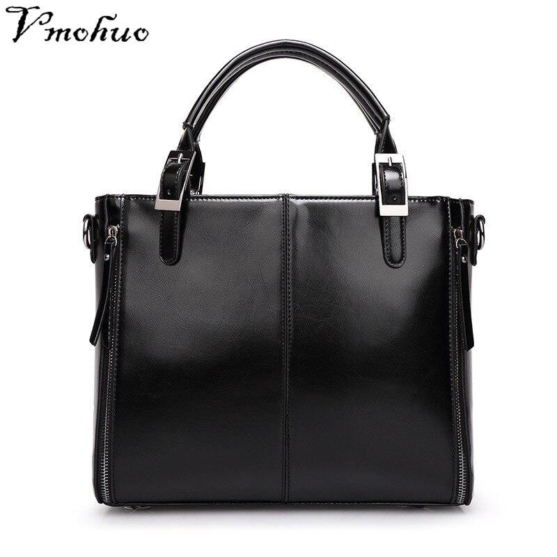 VMOHUO Cowhide Leather Women Shoulder Messenger Bag Luxury Genuine Leather Women Handbags Brand Elegant Female tote Handbag все цены