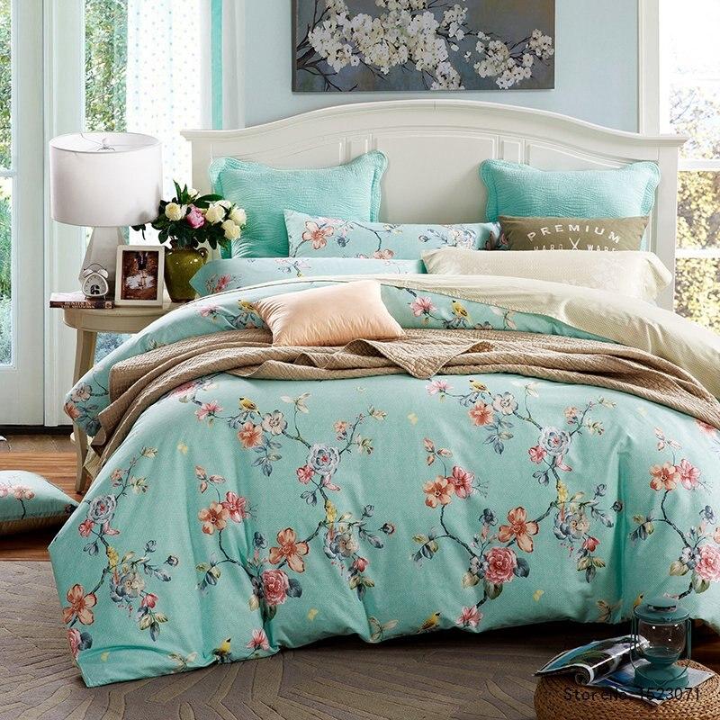 TUTUBIRD blue flower floral Bedclothes bedding bohemian boho Bed Linen Mysterious Queen king Size Duvet Cover Set For Girl