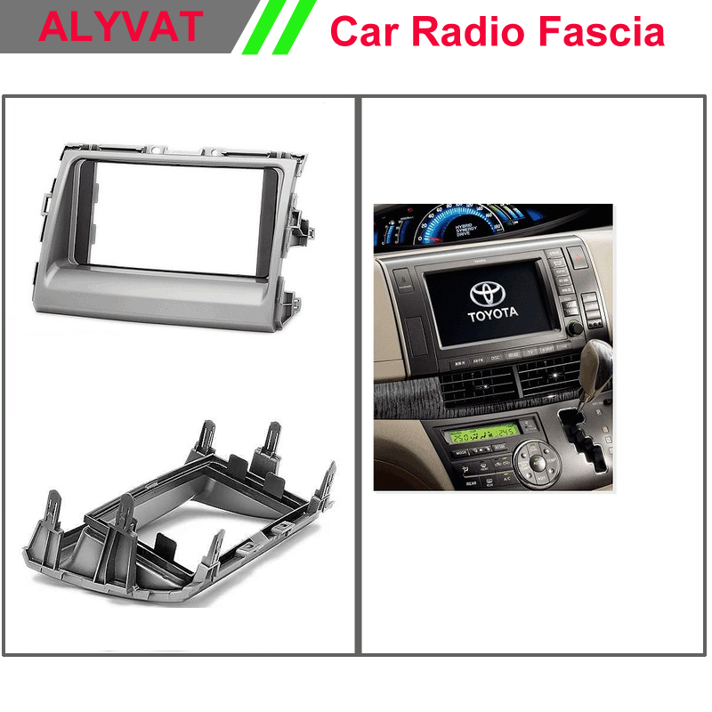 Car Radio Frame Fascia for TOYOTA Previa, Tarago 2007+; Estima 2006+ Stereo Dash Facia Trim Surround CD Installation Kit