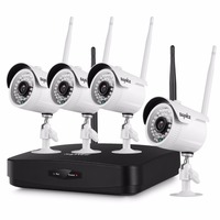 SANNCE 4CH 1080P Wireless NVR Kit 4pcs 1080P 2mp Wifi IP Camera IR CUT IP66 CCTV