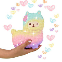 Jumbo Squishy Cute Rainbow Alpaca Bread Soft Slow Rising Pendant Phone Straps Stretchy Squeeze Scented Cake