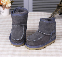 Real Goat Fur Baby Boy Winter Snow Boots 2016 Brand Kids Baby Ugly Boots Shoes Children