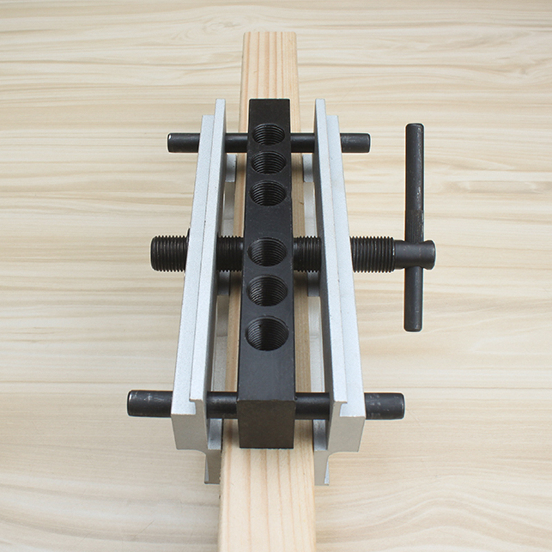 Improved Dowel Jig for Furniture Board Connection Aluminum Six Diameter 6 to 12 mm with Bushes