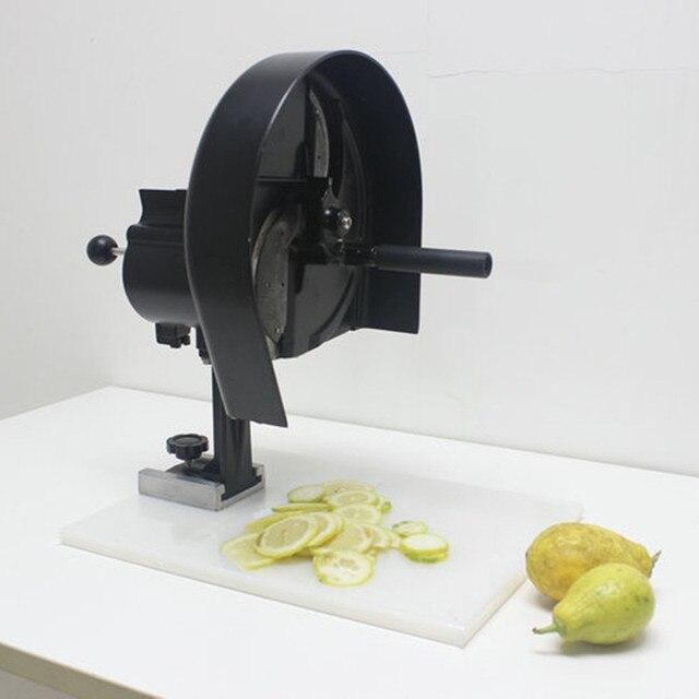 Commercial lemon อาหารหั่นเครื่องตัดมัลติฟังก์ชั่คู่มือผักผลไม้ผัก flaker มันฝรั่ง grapefruit orange chipping เครื่อง