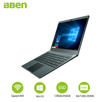 Bben N14W Portable Préinstaller Windows 10 Intel Apollo N3450 Quad Core 4 GB RAM 64 GB ROM 1080 P Plein Écran et M.2 SSD Port ordinateur portable