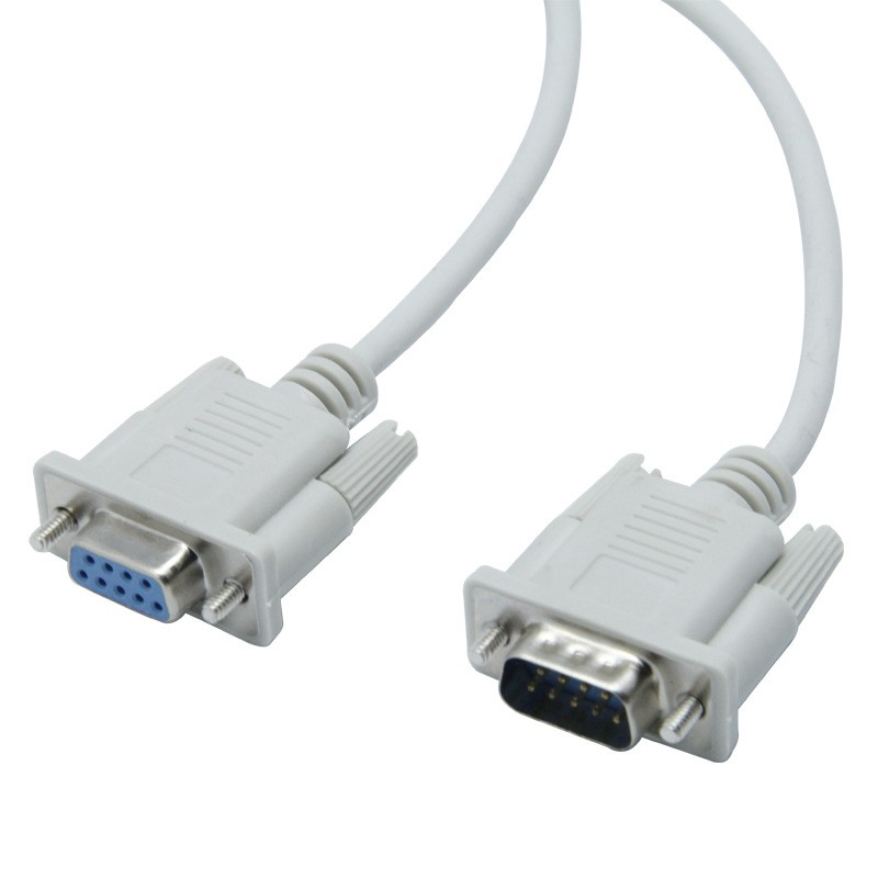 5FT 1.5M 9 Pin Extension Cable Serial Direct Male to Female RS232 DB9 M-F NEW Us