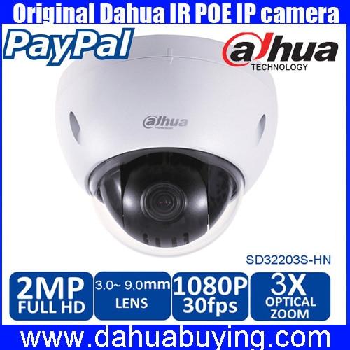 Original english DAHUA 2Mp 1080P Full HD Network POE Mini IP PTZ Dome Camera DH SD32203S
