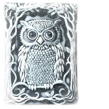 PRZY silicone wise owl in the tree of knowth, квадратная форма, сделай сам, украшение для торта, ручная работа, мыльная свеча, арома-камень, форма