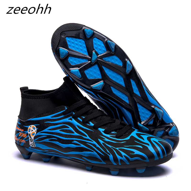 zeeohh Men's futzalki football shoes sneakers indoor turf superfly futsal original football boots ankle high soccer shoes cleats