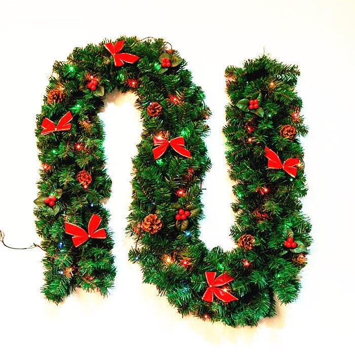 2 7 m 106 iluminado navidad decorado guirnaldas de for Guirnaldas para puertas navidenas
