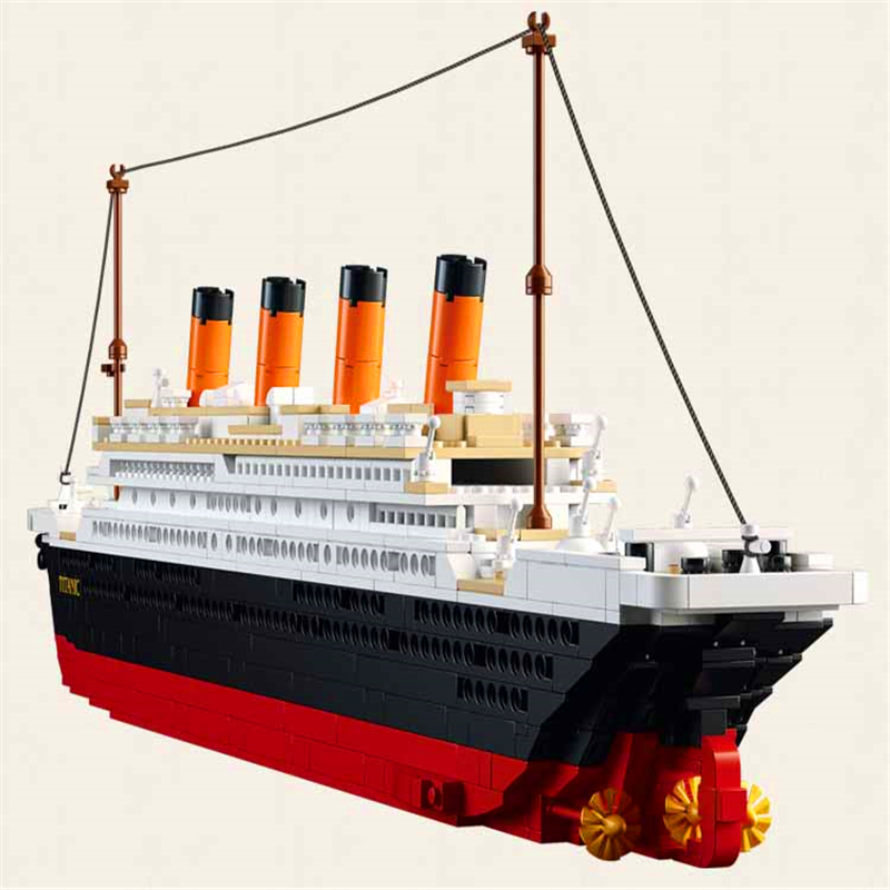 1021Pcs City Titanic RMS Ship Boat Model Building Block Toys SLUBAN 0577 Educational Figure Gift For Children Compatible Legoe 1700 sluban city police speed ship patrol boat model building blocks enlighten action figure toys for children compatible legoe