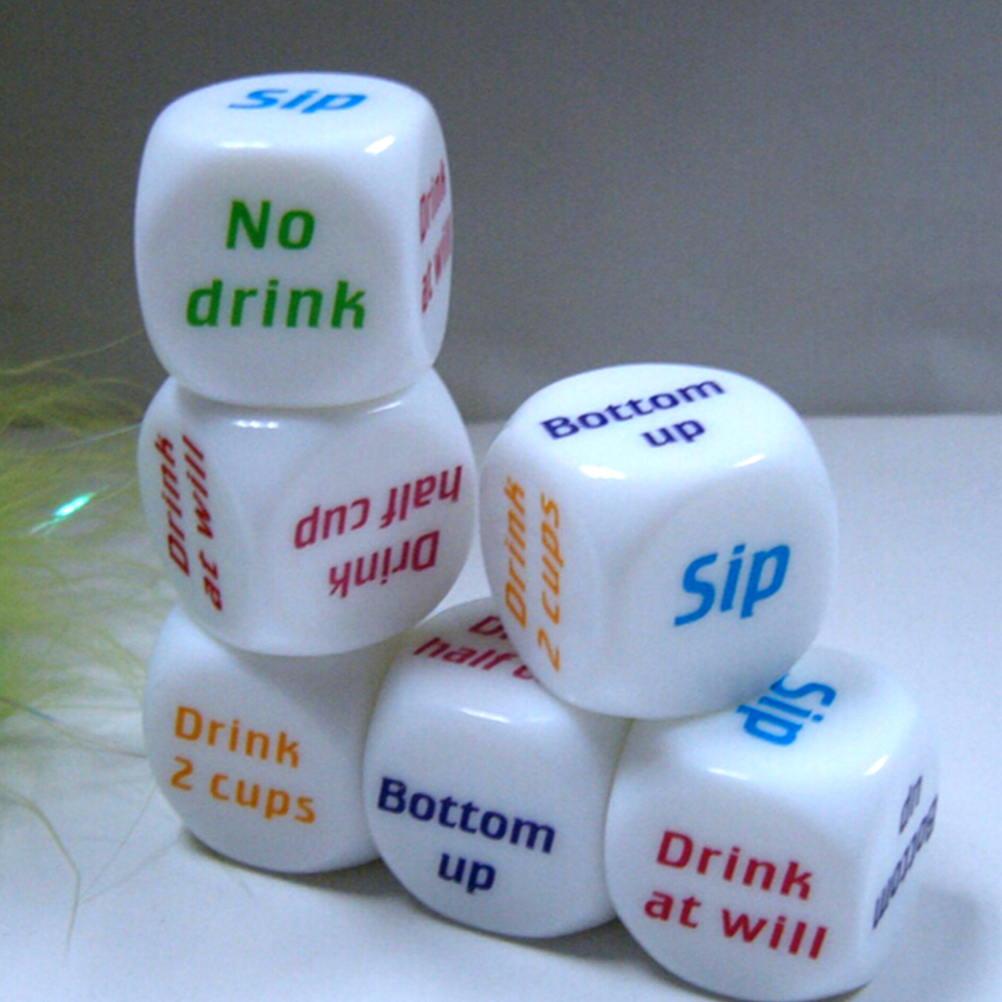 1PC Funny Home Drinking Sip Dice Couples Families Housework Distribution Dice Fun Game Nice Play Gift 25*25mm image