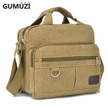 High Quality Men Shoulder Bag Fashion Canvas Multi-function Handbag Totes Vintag