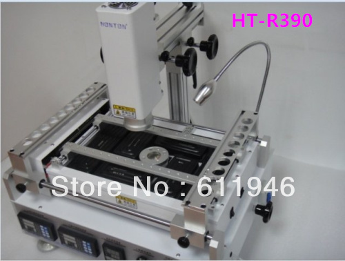 Hot Sell, White HT-R390 infrared Hot Air rework Station ,HT 390 BGA Soldering repair Machine 110v