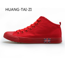New Men's Vulcanize Shoes Men Spring Autumn Top Fashion Sneakers Lace-up High Style Solid Colors Man Canvas Shoes