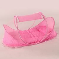 3Pcs/Set Portable Baby Bed Crib Folding Mosquito Net Cushion Mattress Summer Baby Infants Mosquito Polyester Mesh Crib Netting