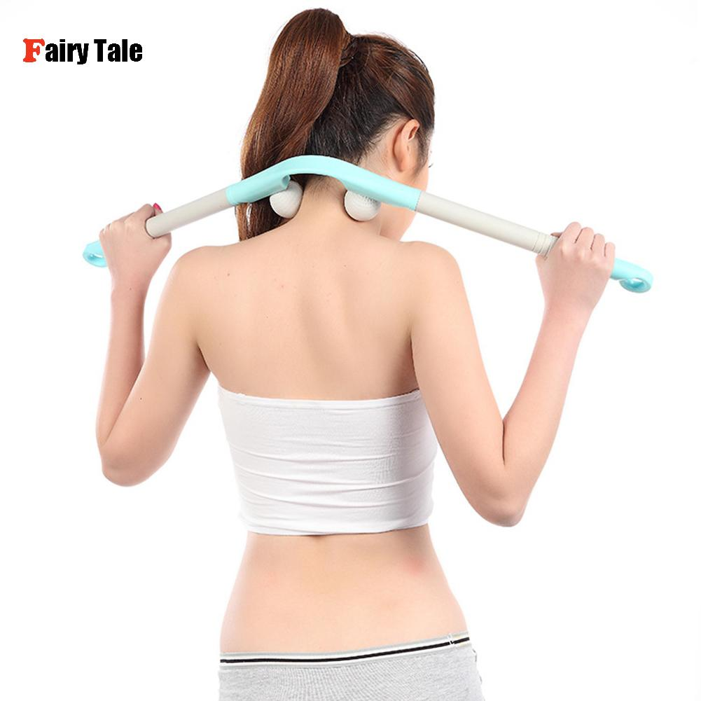 Neck Massager Manual Trigger Point Neck Massage Ball Hammer Multifunction Relaxation Roller Stick Shoulder Body Health Care