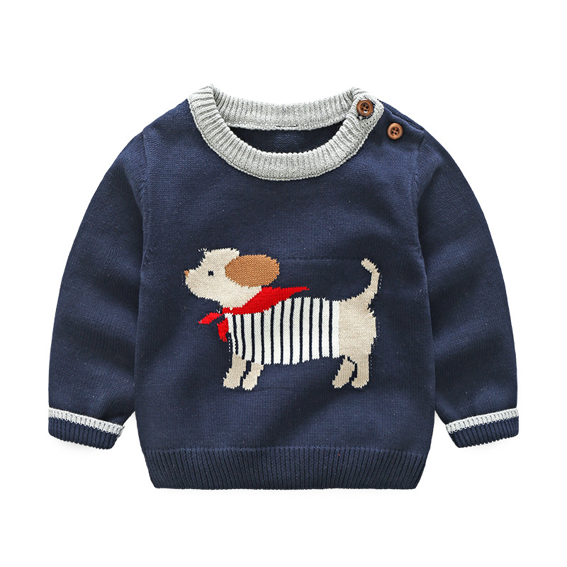 Vinntido Boys Sweater Pullover Boys Cardigan Animal Sweater kids Cotton Kids Knitted Children Clothes цена 2017
