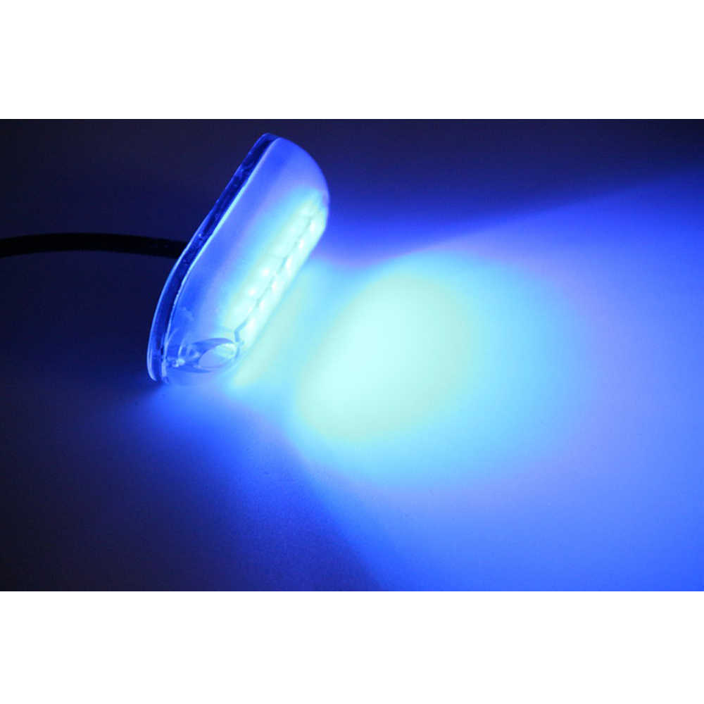 Jeazea 1pcs Blue 12v 6 Led Underwater Fishing Light Lamp Boat Light Night Water Landscape Lightsfor Marine Boat Accessories