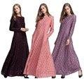 Мода Полный Кружева Абая Одежда Турецкая Абая Мусульман Платья Плюс Размер Женщин Абая Платья Взрослый Исламский абая