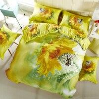 ARNIGU 3d Pattern Bedding Sets Twin Queen Double Size Duvet Cover Set Home Textile 4pcs 100