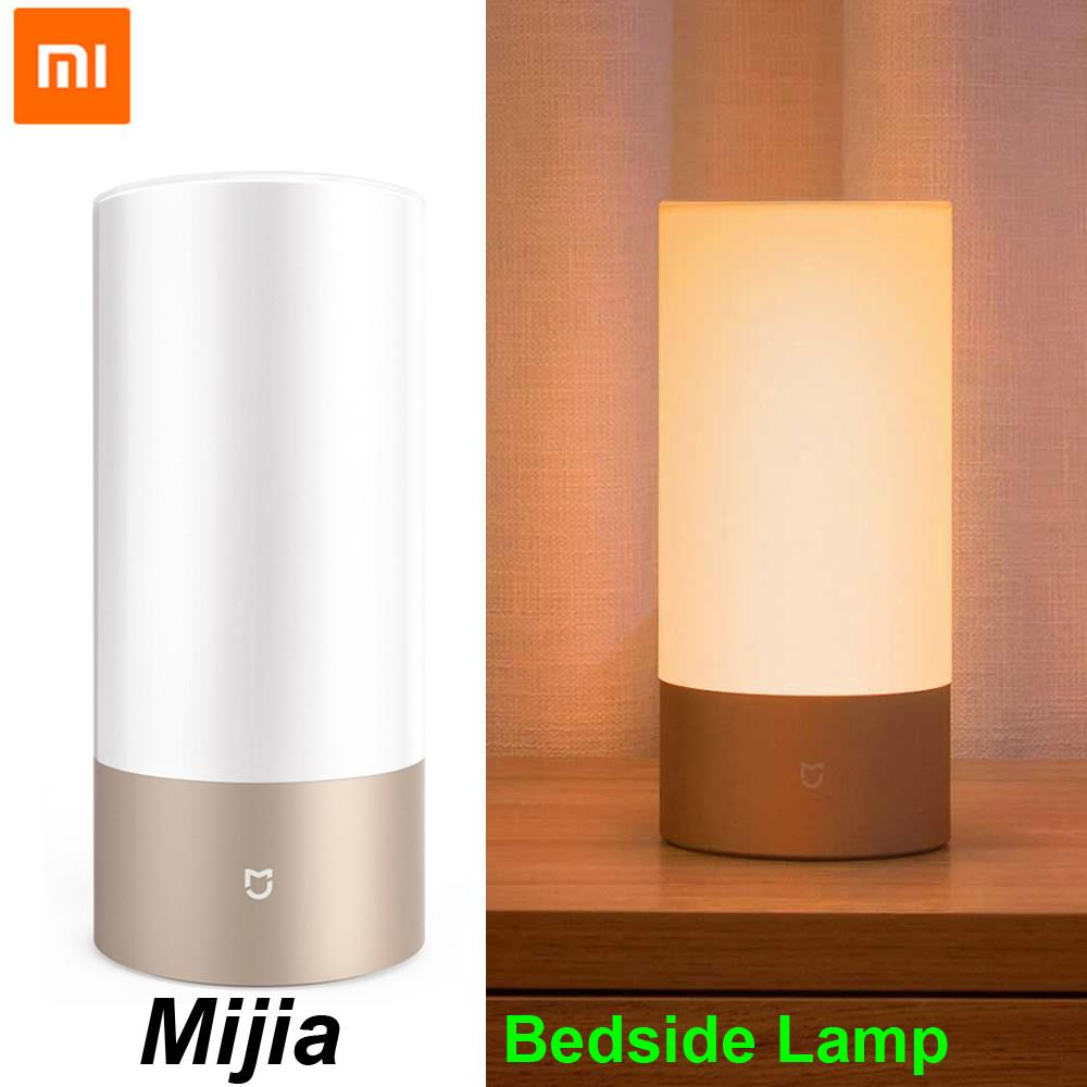 100%Xiaomi Mijia Smart Bedside Lamp Light Bluetooth WiFi LED Light Smart Indoor Night Light Touch Control Smart App Control led touch color change night light motion sensor bedside lamp bluetooth speaker touch control support mobile phone app control