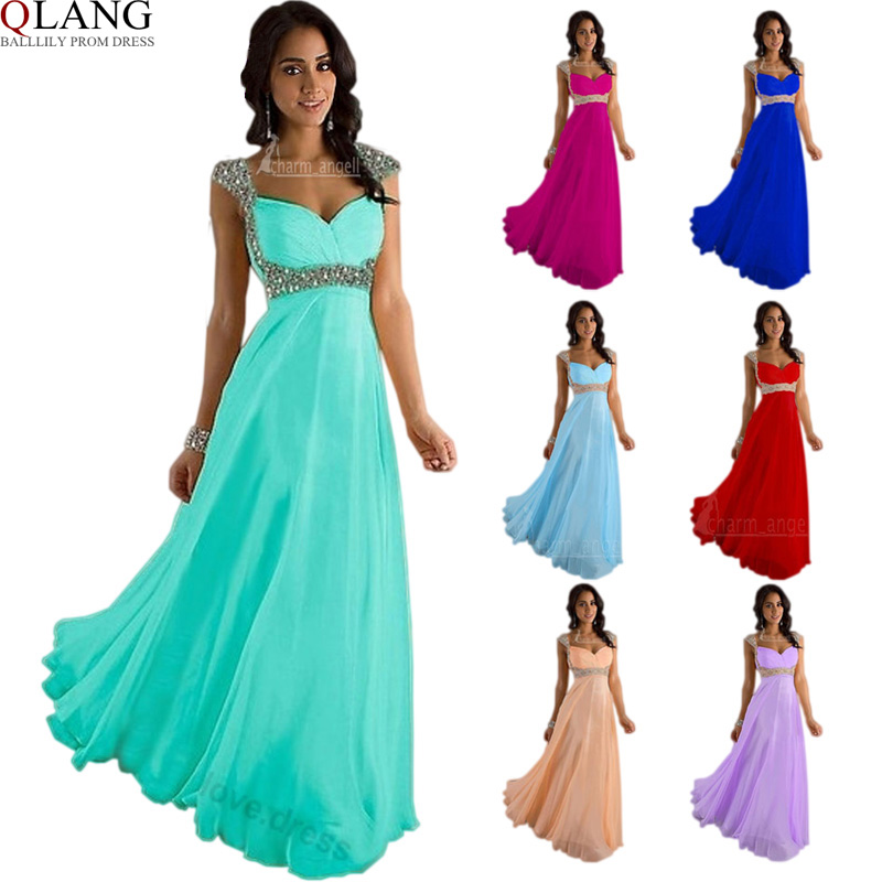 Ball Lily Party Bridesmaid Dresses Long Prom Evening Gowns Formal New Arrival 2017 Women Cap Sleeve Chiffon L49 In From