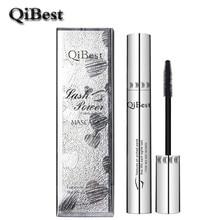 QiBest 3D Black Mascara Waterproof Lengthening Curling Eye Lashes Rimel Mascara Silicone Women Professional Makeup Bushy Mascara