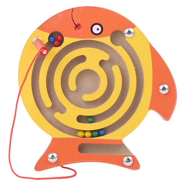 Children Magnetic Maze Toy Kids Wooden Puzzle Game Toy Kids Early Educational Brain Teaser Wooden Toy Intellectual Jigsaw Board wooden t puzzle brain teaser iq toy
