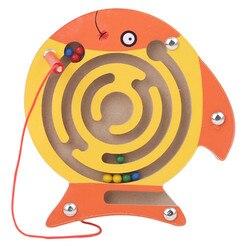 Enfants labyrinthe magnétique jouet enfants en bois Puzzle jeu jouet enfants début éducatif cerveau Teaser en bois jouet intellectuel Puzzle conseil