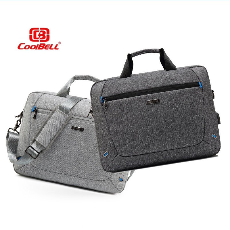 COOLBELL 15.6 inch Handbag for notebook computer with USB external charging port Shoulder Messenger Business travel Laptop bagCOOLBELL 15.6 inch Handbag for notebook computer with USB external charging port Shoulder Messenger Business travel Laptop bag