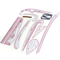 9PCS SET Cutting Ruler Sewing Feet Tailor Foot Put Yardstick Sleeve Arm French Curve Cut Cutting