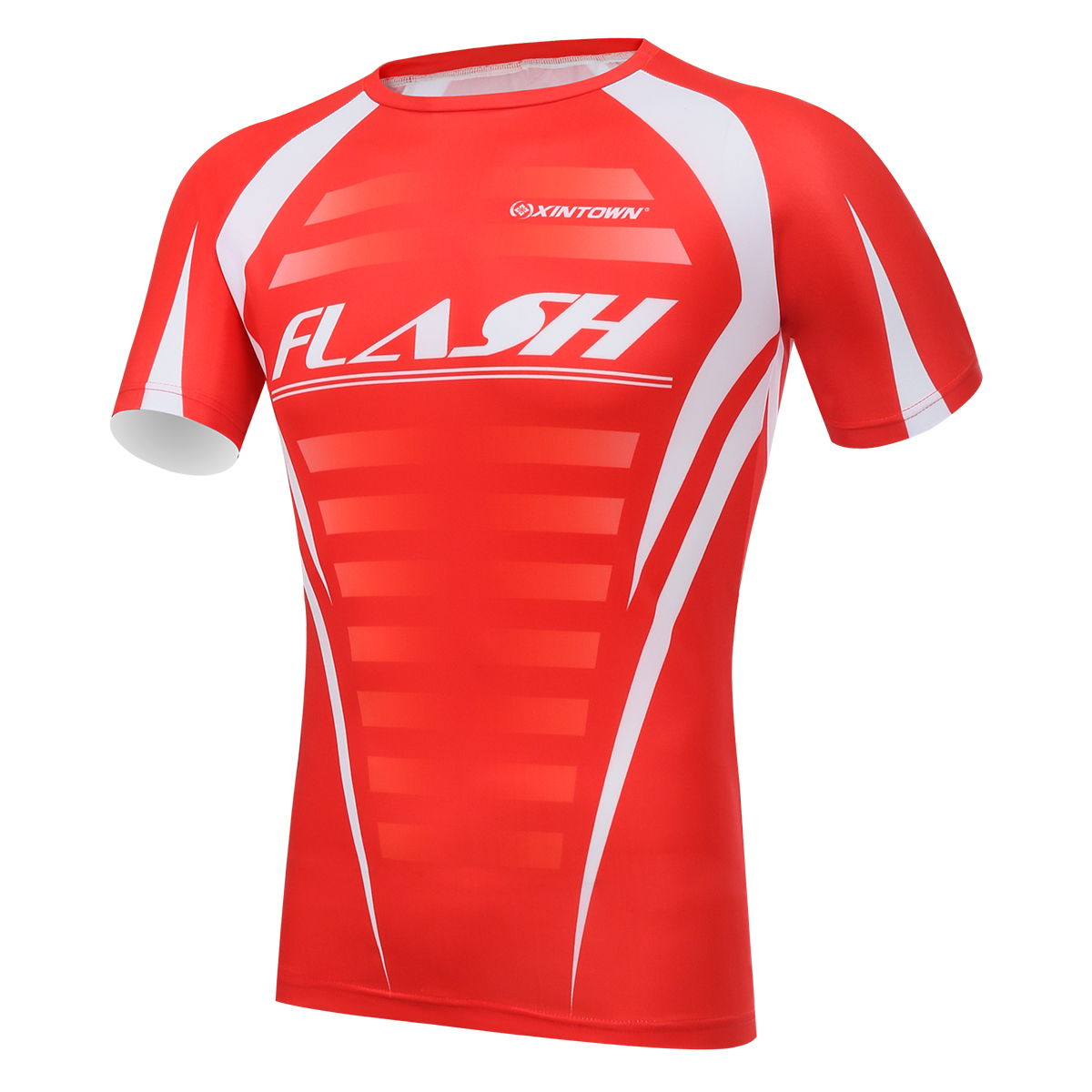Red cycling clothes shirt cycling t shirts body building for What is a sport shirt