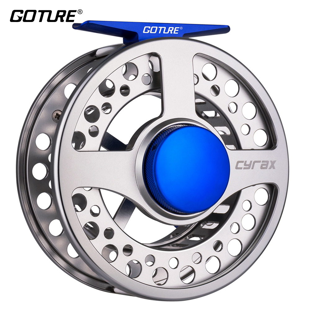 Goture Cyrax Fishing Reel 5 6 7 8 WT CNC Machine Cut Large Arbor Fly Fishing