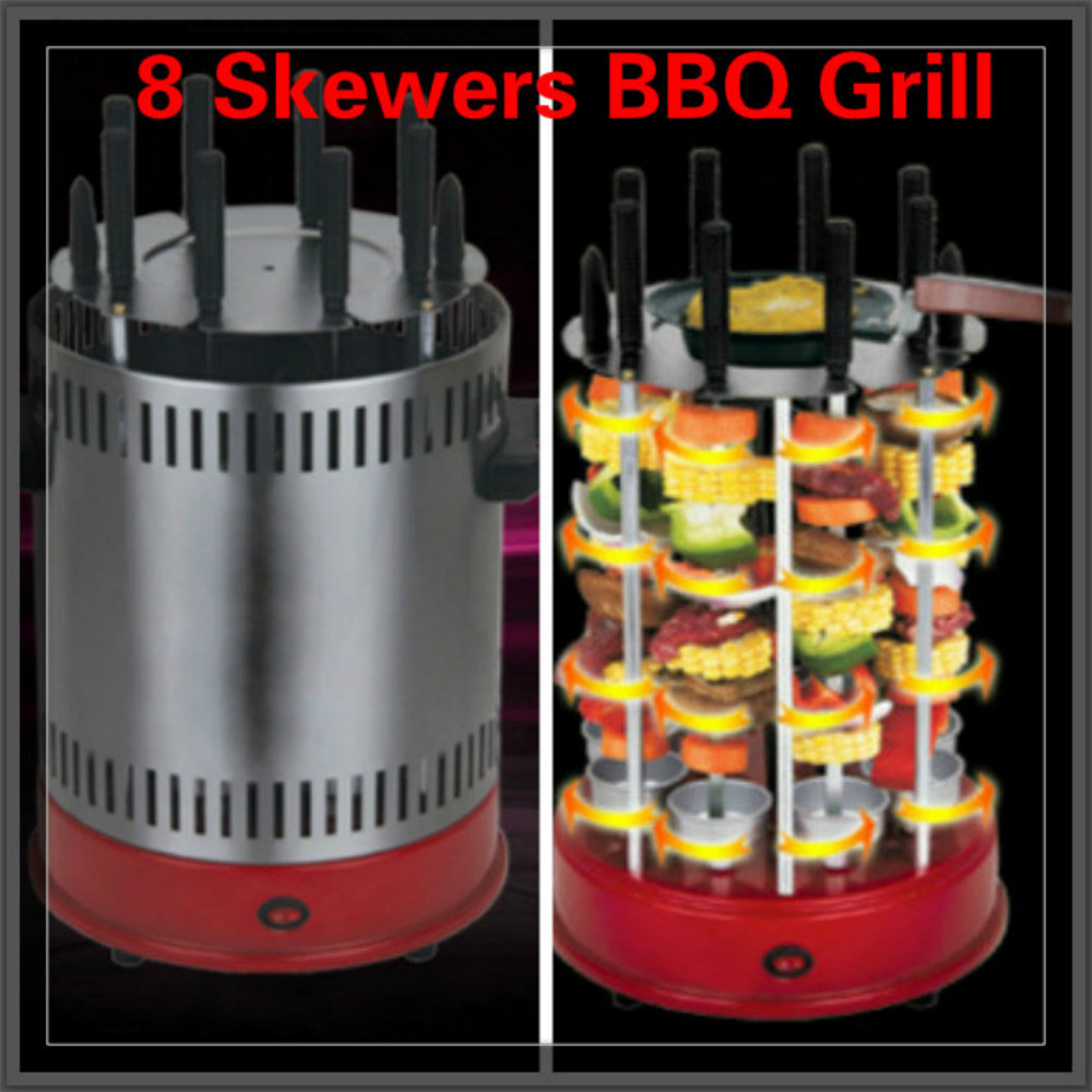 Vertical Electric Barbecue grill 8 Skewers smokeless BBQ grill 1200w 24v 50a adjustable 110v or 220v input single output switching power supply for led strip light ac to dc