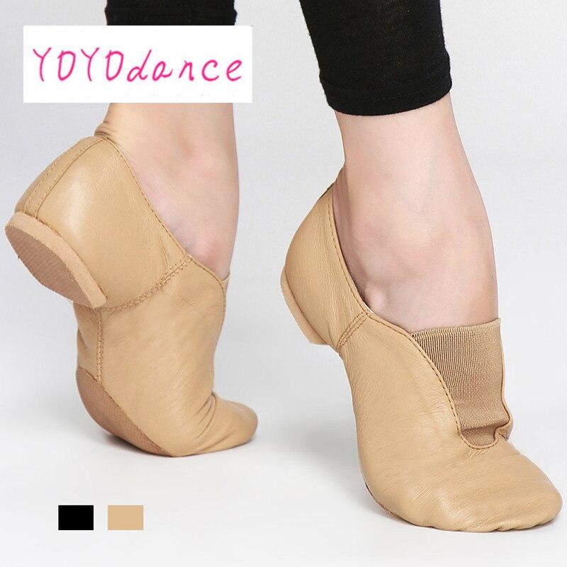 Adulto Jazz dance shoes para unisex botas de jazz sapatos de dança preto  tan cetral elástico jazz dança sneaker deslizamento em sapatos de dança 4717 fcc13e3fee