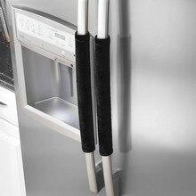 Пара крышки ручки холодильника кухонная техника крышка холодильника безопасная Ручка дверцы холодильника перчатки домашний декор кухонный очиститель