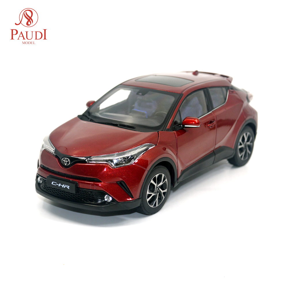 Paudi Model 1/18 1:18 Scale Toyota C-HR CHR 2019 Red SUV Diecast Model Car Toy Model Car Doors Open