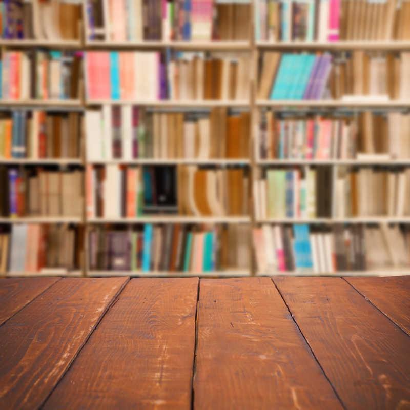 HUAYI toile de fond personnalisée pour photographie livre bibliothèque murale bibliothèque plancher de bois portraits Photoshoot rétro arrière-plan XT-5503