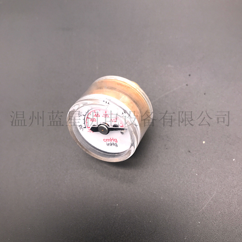 High Quality 25mm Axial 30inhg 0 Miniature Vacuum Gauge