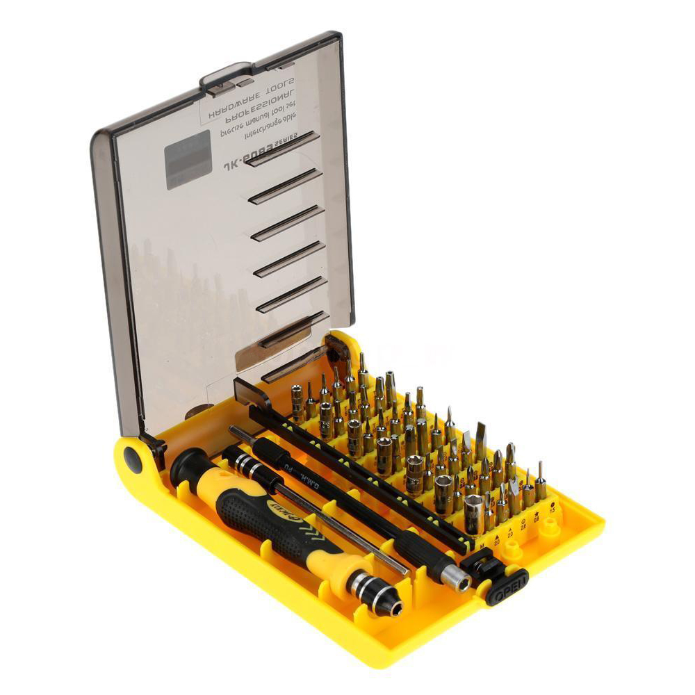 Jackly 45-in-1 Mobile Phone Precision Screwdriver Set Repair Tool JK-6089C prostormer 25 in 1 torx screwdriver set mini repair tool kit precision screwdriver tool set for pc glasses mobile phone watch