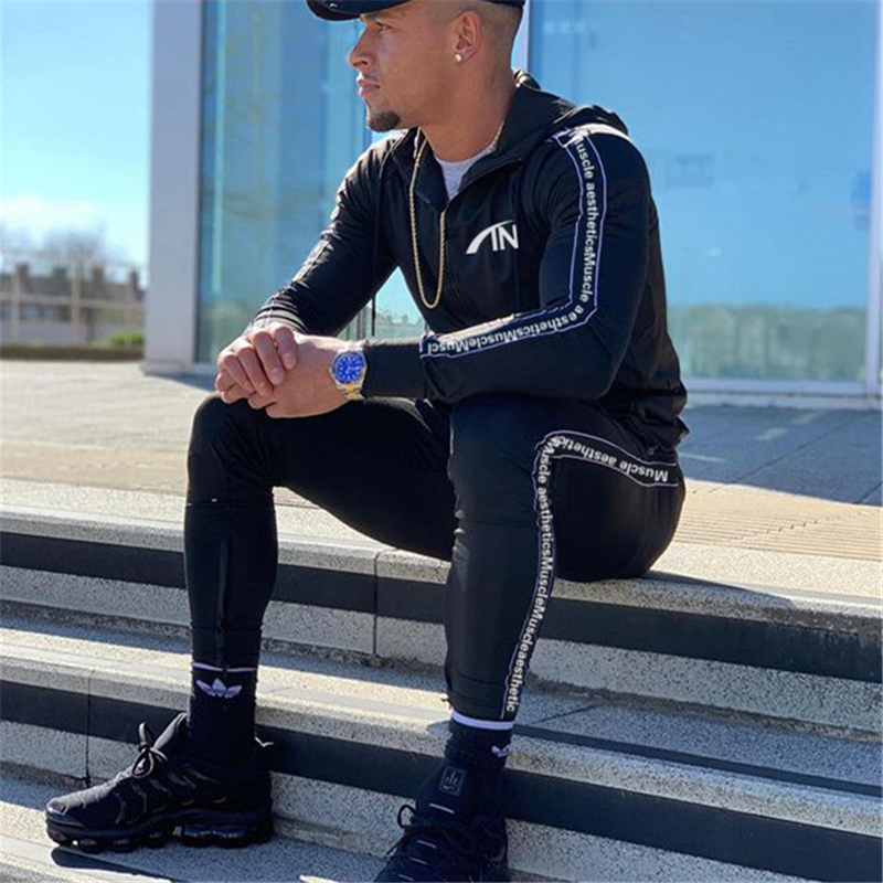 Image 4 - FRMARO 2019 Men Sportswear Hoodies Pants Set Autumn Track Suit Clothes Casual Tracksuit Men Sweatshirts Male Joggers Streetwear-in Men's Sets from Men's Clothing