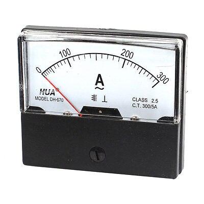 Устройство для проверки тока в циферблате, Аналоговый амперметр переменного тока 0-300 А, 70x60 мм